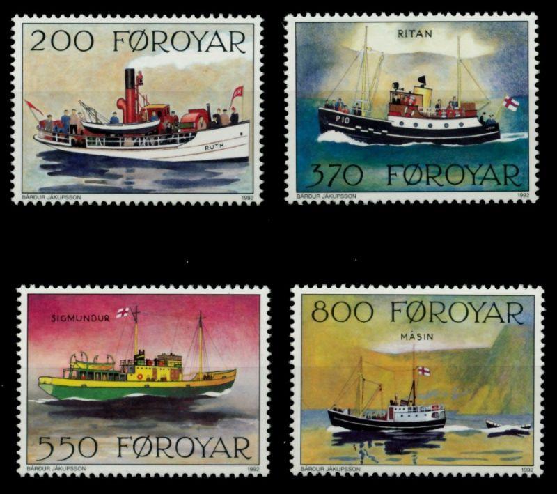 FÄRÖER Nr 227-230 postfrisch 90E31A 0