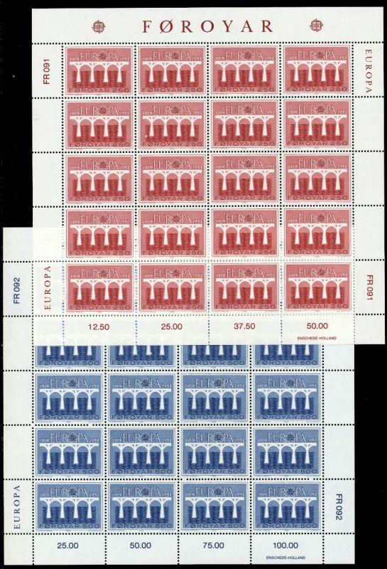 FÄRÖER Nr 97-98 postfrisch BO 90E352
