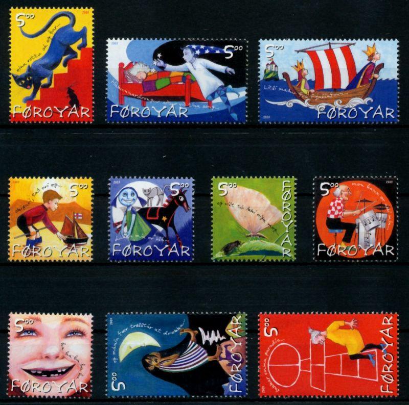 FÄRÖER Nr 450-459 postfrisch 90E356 0