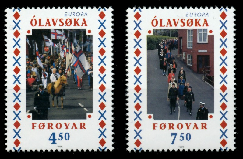 FÄRÖER Nr 338-339 postfrisch 90E362 0