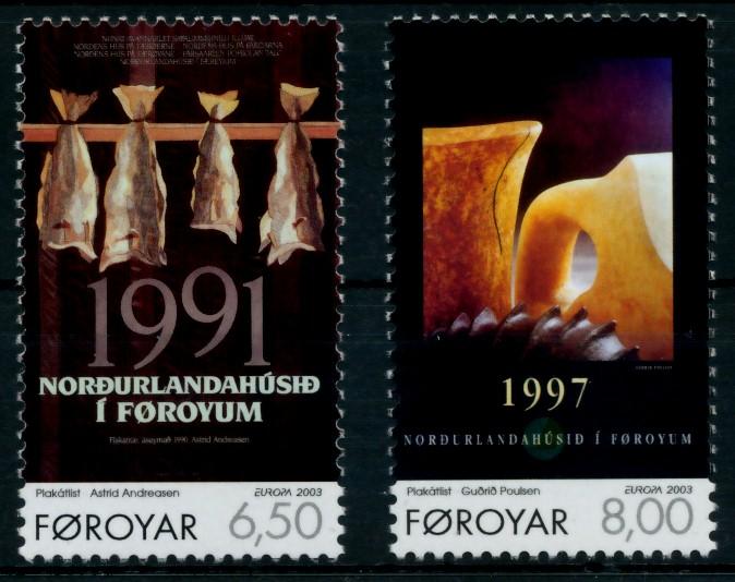FÄRÖER Nr 448-449 postfrisch S031EC6 0