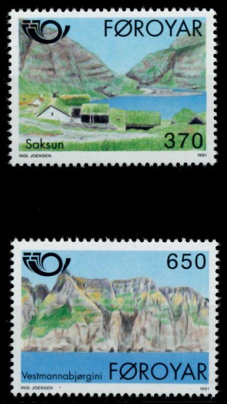 FÄRÖER Nr 219-220 postfrisch 90E392 0