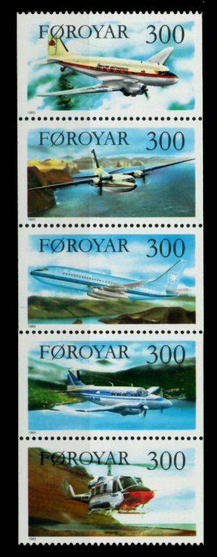 FÄRÖER Nr 125-129 postfrisch 5ER STR 90E39A 0