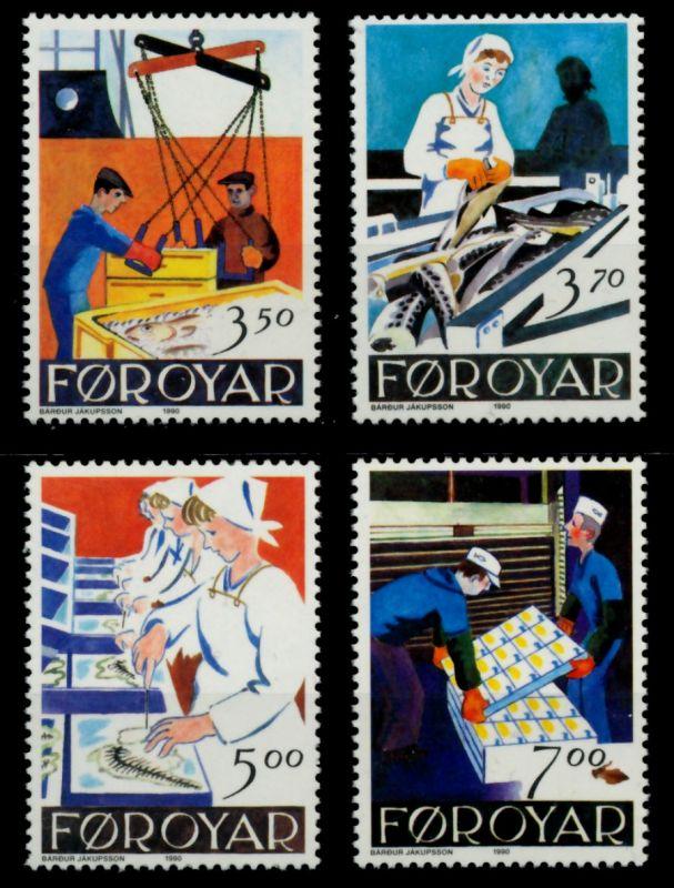 FÄRÖER Nr 194-197 postfrisch 90E3E2 0
