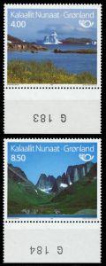 GRÖNLAND Nr 260-261 postfrisch URA 90E4AE