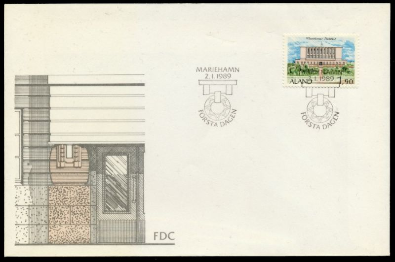 ALAND Nr 32 BRIEF FDC 911526