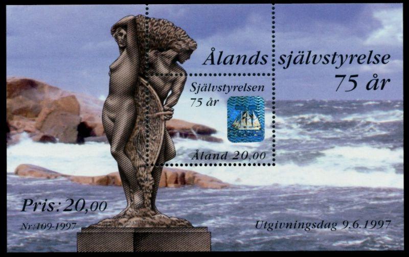 ALAND Block 3 postfrisch S03219A 0