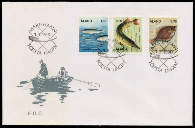 ALAND Nr 38-40 BRIEF FDC S0321E6