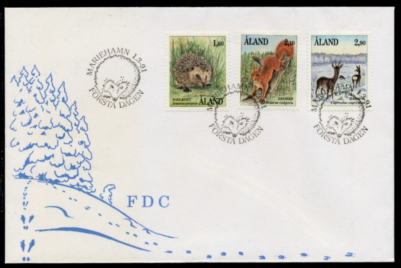 ALAND Nr 44-46 BRIEF FDC S0321DA