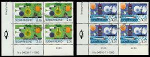 FINNLAND Nr 1248-1249 zentrisch gestempelt VIERERBLOCK ECKE-U 9118C2