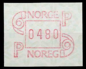 NORWEGEN ATM Nr ATM3-480 postfrisch 911B06
