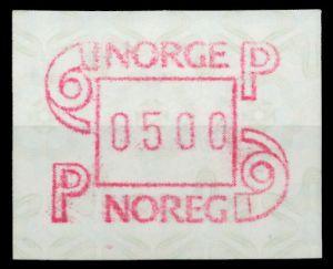 NORWEGEN ATM Nr ATM3-500 postfrisch 911B1E