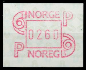NORWEGEN ATM Nr ATM3-260 postfrisch 911B32