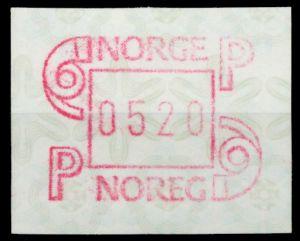 NORWEGEN ATM Nr ATM3-520 postfrisch 911B56