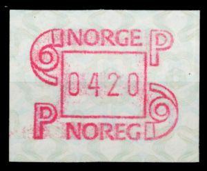 NORWEGEN ATM Nr ATM3-420 postfrisch 911B62