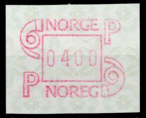 NORWEGEN ATM Nr ATM3-400 postfrisch 911B7A
