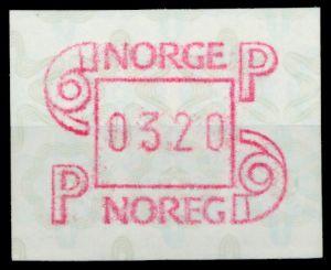 NORWEGEN ATM Nr ATM3-320 postfrisch 911BB2