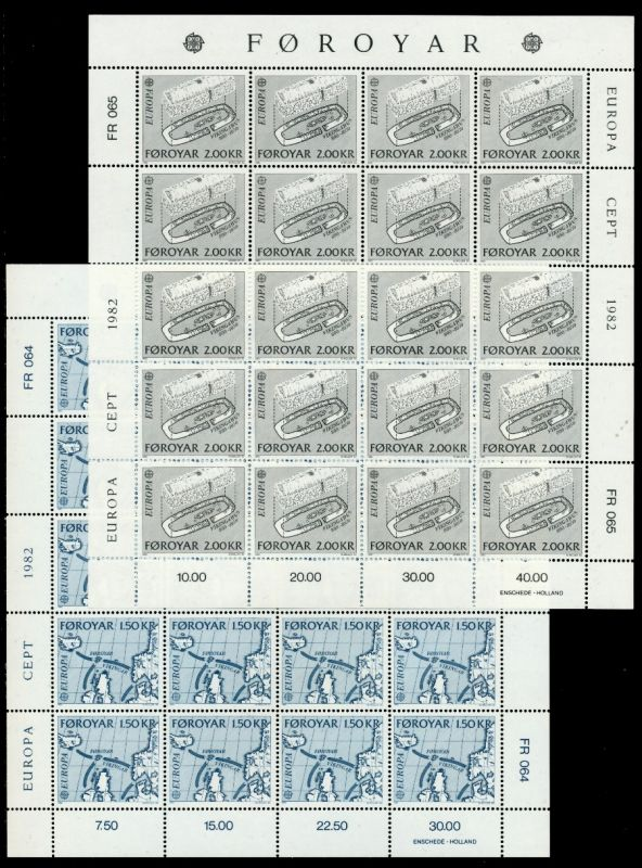 FÄRÖER Nr 70-71 postfrisch BO S03691E