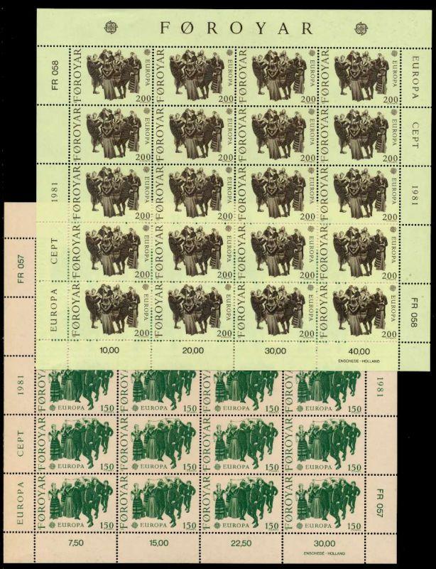 FÄRÖER Nr 63-64 postfrisch BO 919EEE