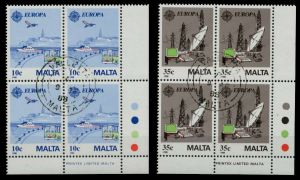 MALTA Nr 794-795 gestempelt VIERERBLOCK ECKE-URE 925362