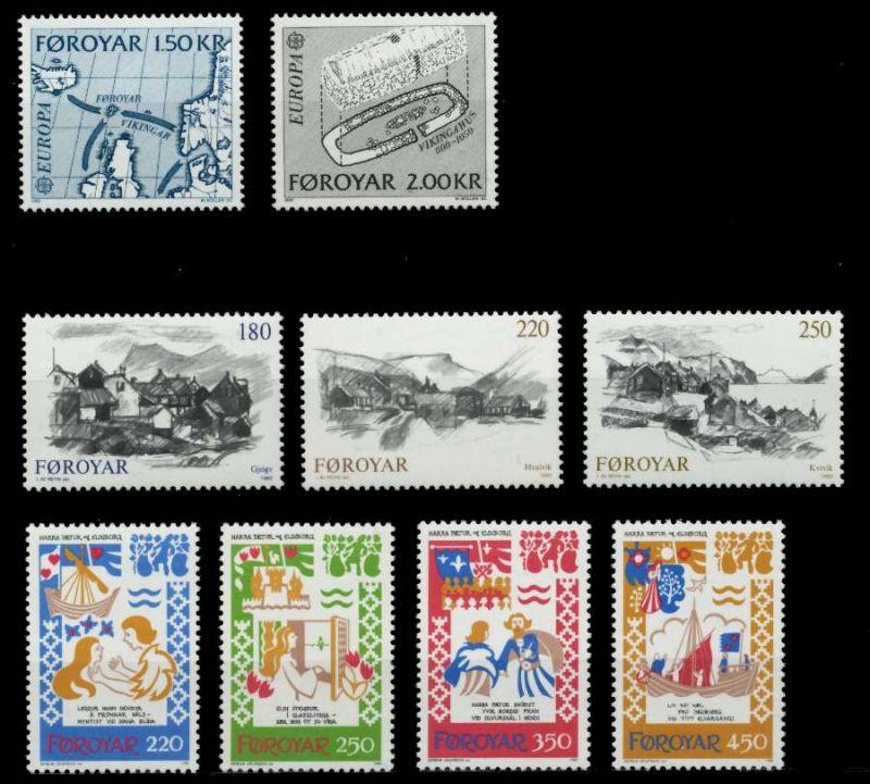 FÄRÖER Nr 70-78 postfrisch JAHRGANG 92A216