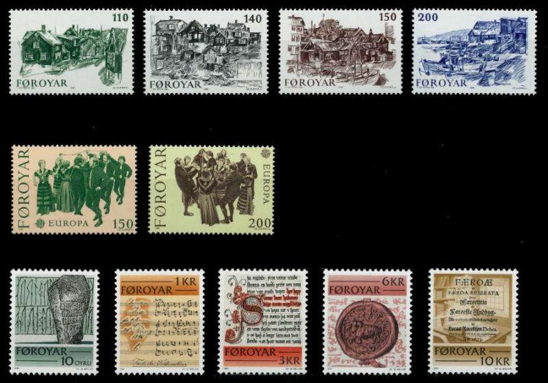 FÄRÖER Nr 59-69 postfrisch JAHRGANG 92A21A