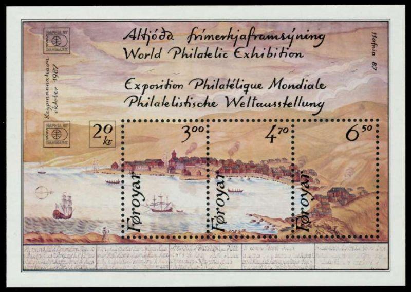 FÄRÖER Block 2 postfrisch 92A27A