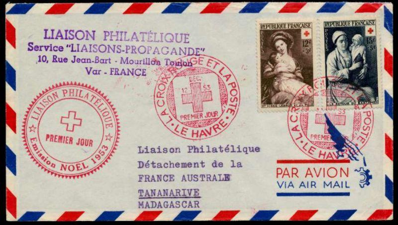 FRANKREICH Nr 984-985 BRIEF FDC 93869E