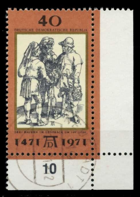 DDR 1971 Nr 1673 zentrisch gestempelt ECKE-URE 98645E
