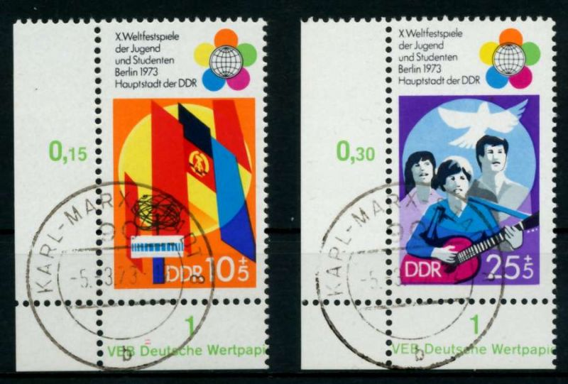 DDR 1973 Nr 1829-1830 zentrisch gestempelt ECKE-ULI 68AD1A