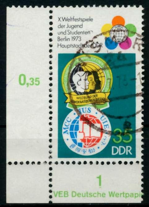 DDR 1973 Nr 1866 gestempelt ECKE-ULI 69180E