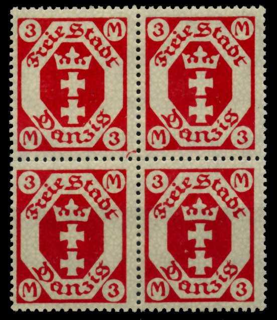 DANZIG Nr 104a postfrisch VIERERBLOCK 7722AA