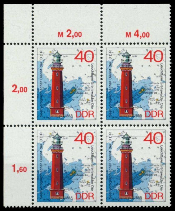 DDR 1974 Nr 1957 postfrisch VIERERBLOCK ECKE-OLI 697266