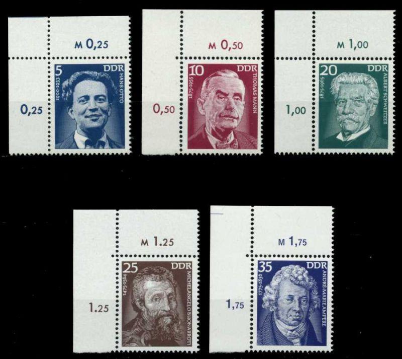 DDR 1975 Nr 2025-2029 postfrisch ECKE-OLI 699692