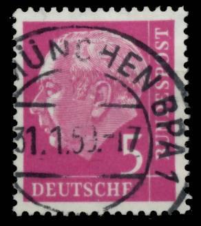 BRD DS HEUSS 1 Nr 179 zentrisch gestempelt 6AFBCE