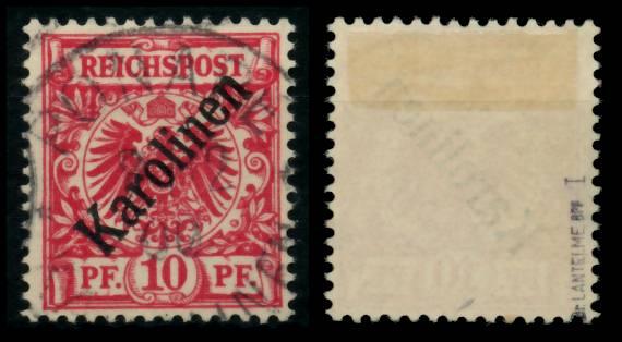 KAROLINEN Nr 3I zentrisch gestempelt gepr. 6B9226