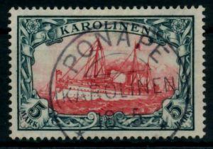 KAROLINEN Nr 19 zentrisch gestempelt gepr. 6B9272