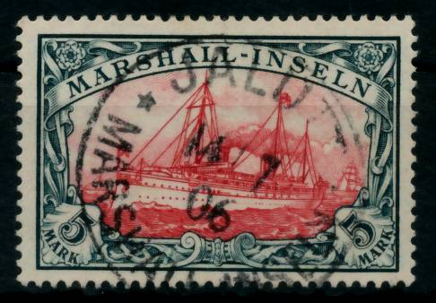 MARSHALL-INSELN Nr 25 zentrisch gestempelt gepr. 6B93B2