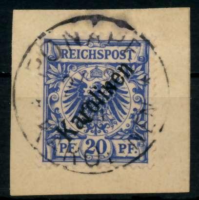 KAROLINEN Nr 4I zentrisch gestempelt Briefst³ck gepr. 6CC40E