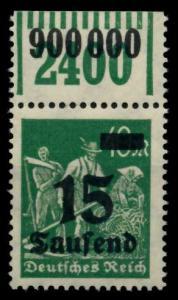 D-REICH INFLA Nr 279bW OR 1-11-1 postfrisch ORA 6D623E