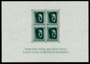3. REICH 1937 Block 7 postfrisch 6DD202
