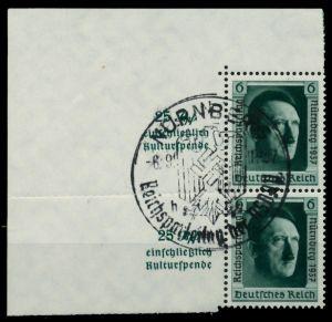 3. REICH 1937 Nr 650 gestempelt SENKR PAAR 6DD236
