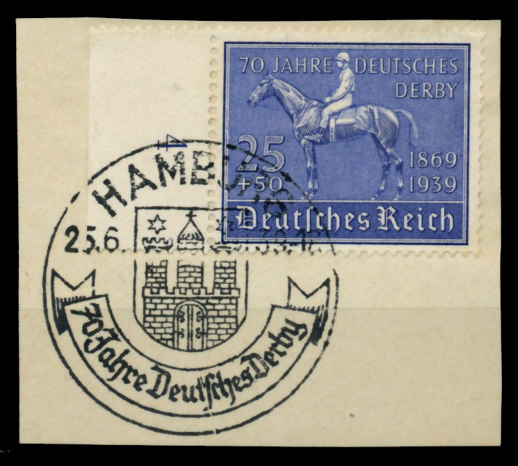 3. REICH 1939 Nr 698 zentrisch gestempelt Briefst³ck 6E2F56