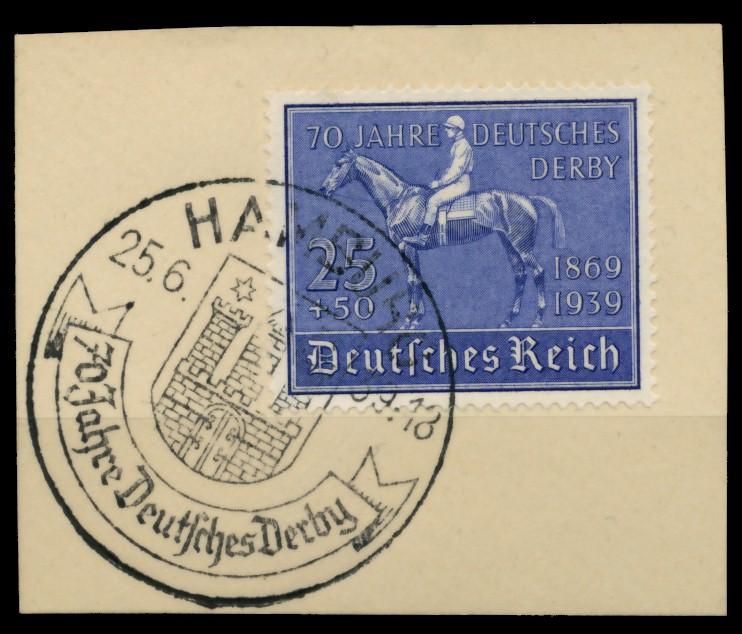 3. REICH 1939 Nr 698 zentrisch gestempelt Briefst³ck 6E2F6A