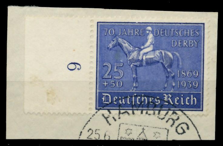 3. REICH 1939 Nr 698 zentrisch gestempelt Briefst³ck 6E2F7A