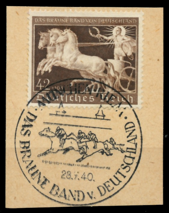 3. REICH 1940 Nr 747 zentrisch gestempelt Briefst³ck 6E312E