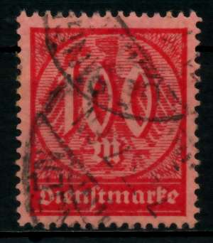 D-REICH DIENST Nr 74 gestempelt gepr. 6F0132