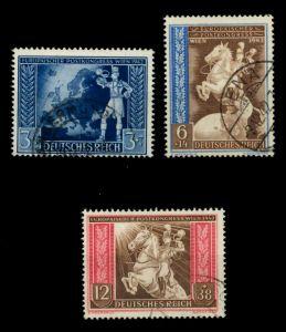 3. REICH 1942 Nr 820-822 gestempelt 6F25CA