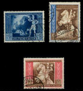 3. REICH 1942 Nr 820-822 gestempelt 6F260A