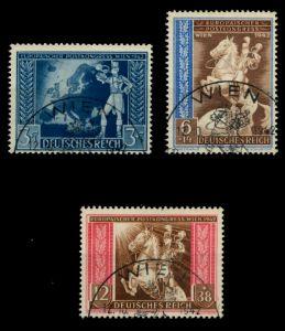 3. REICH 1942 Nr 820-822 gestempelt 6F2616